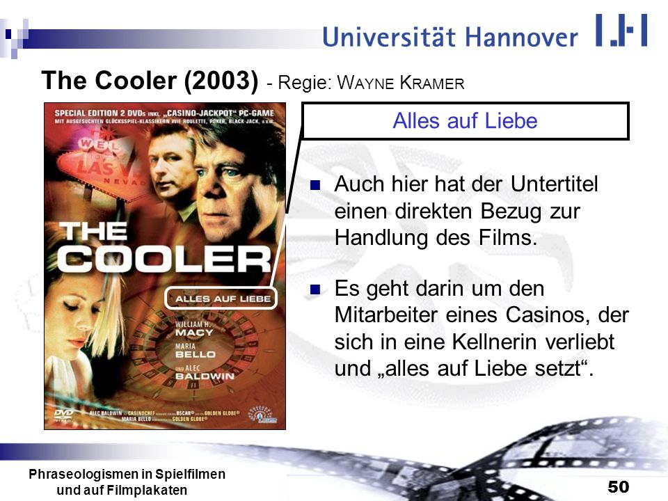 The Cooler (2003) - Regie: WAYNE KRAMER