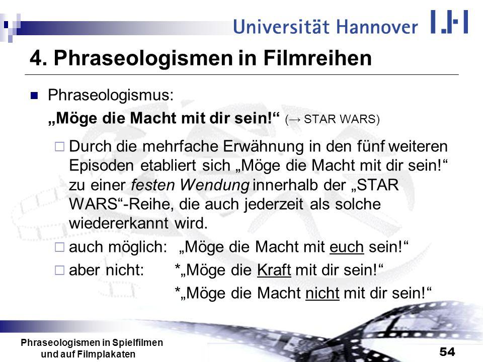 4. Phraseologismen in Filmreihen
