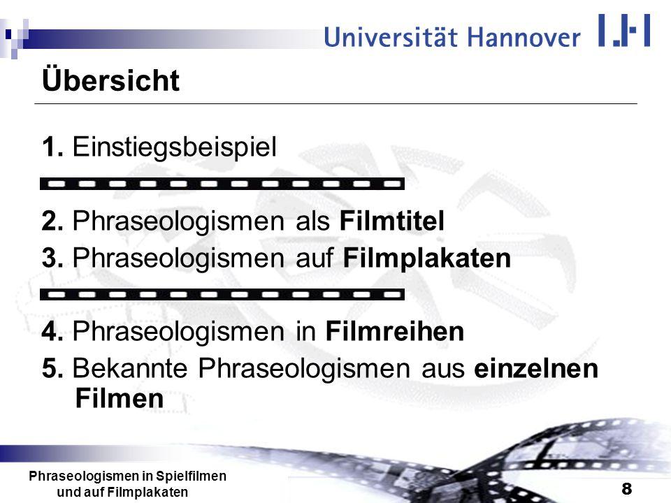 Phraseologismen in Spielfilmen und auf Filmplakaten
