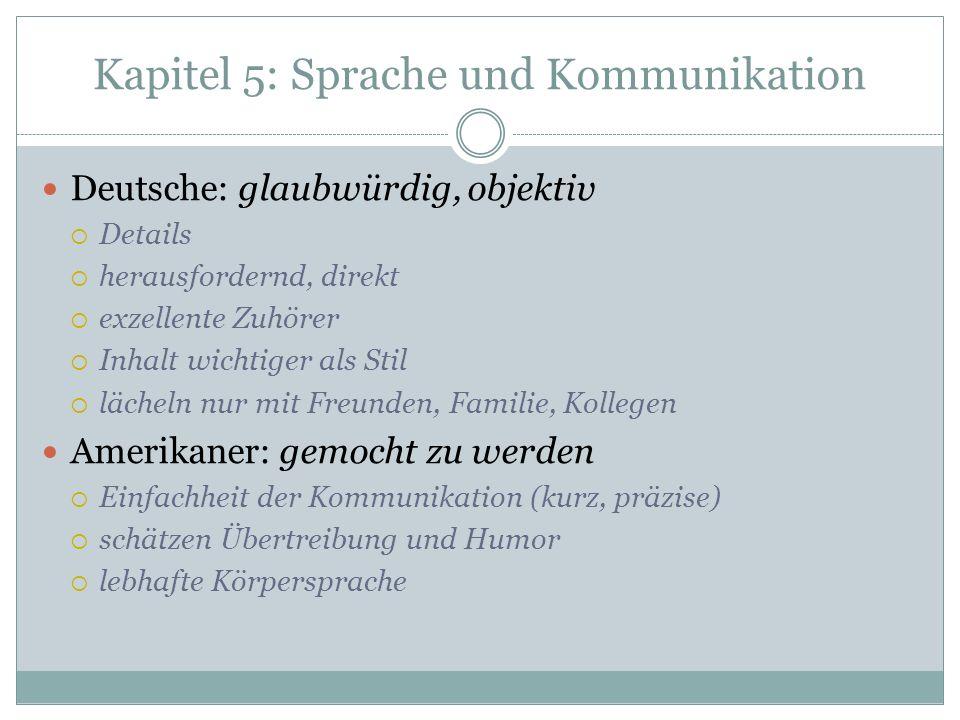 Kapitel 5: Sprache und Kommunikation
