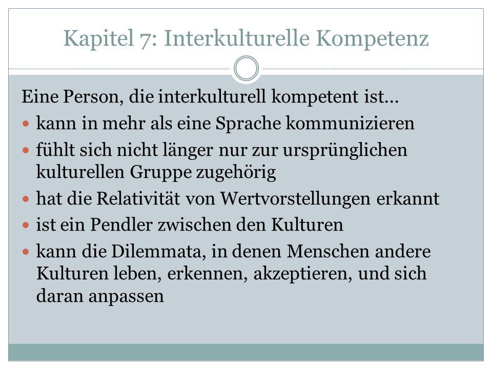 Kapitel 7: Interkulturelle Kompetenz