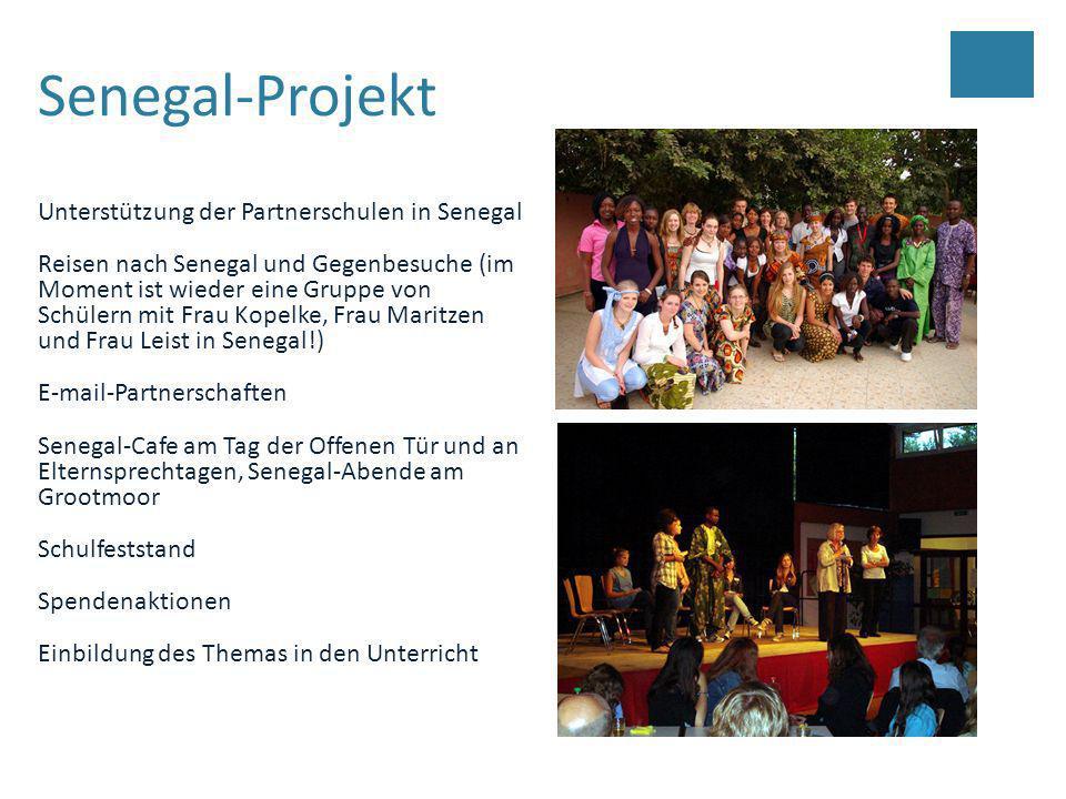 Senegal-Projekt Unterstützung der Partnerschulen in Senegal