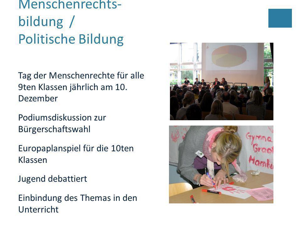 Menschenrechts-bildung / Politische Bildung