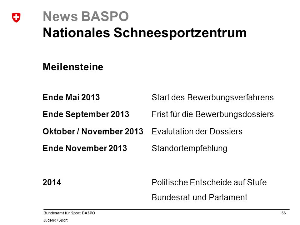 News BASPO Nationales Schneesportzentrum