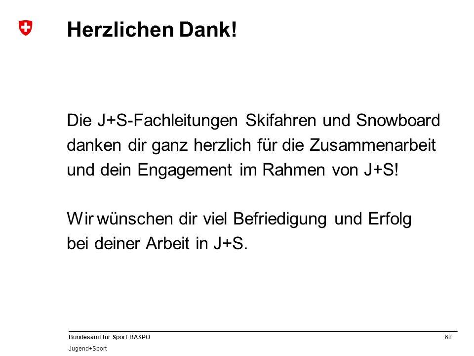 C Herzlichen Dank! Die J+S-Fachleitungen Skifahren und Snowboard