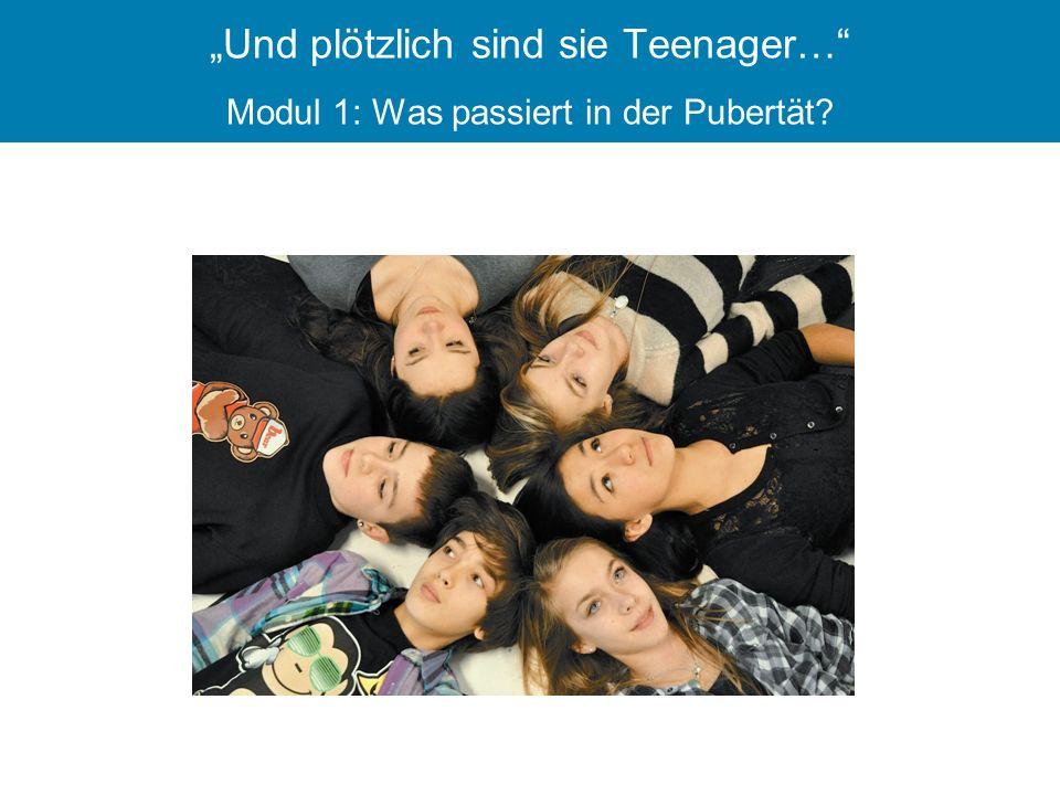 """""""Und plötzlich sind sie Teenager… Modul 1: Was passiert in der Pubertät"""