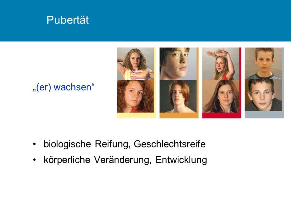 "Pubertät ""(er) wachsen biologische Reifung, Geschlechtsreife"