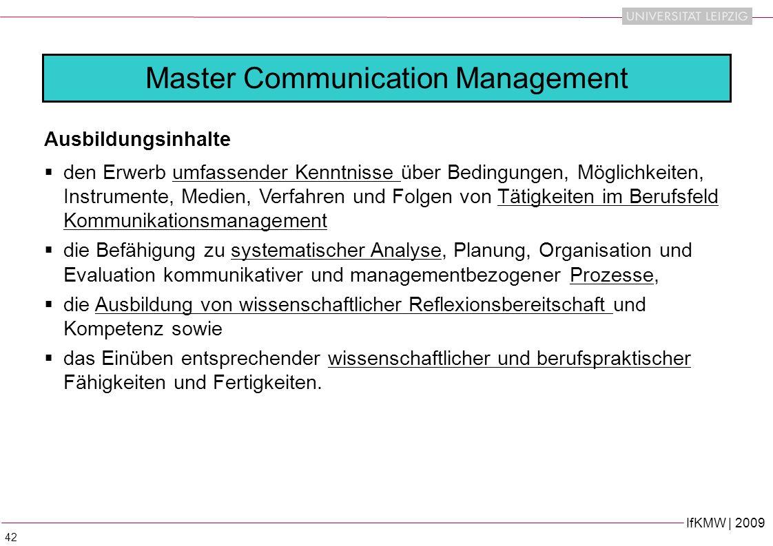 Master Communication Management