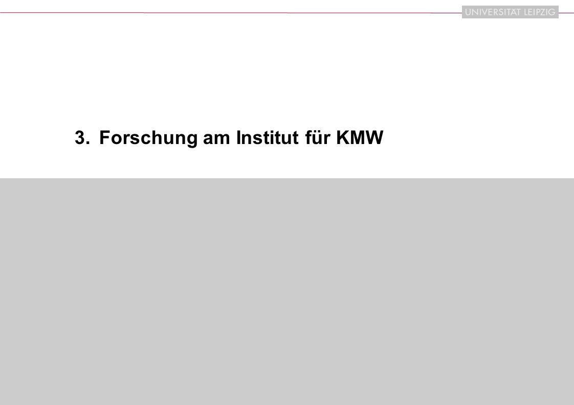 3. Forschung am Institut für KMW
