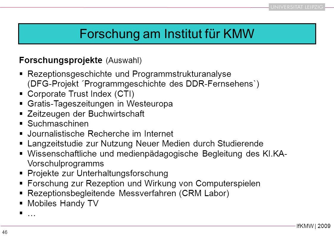 Forschung am Institut für KMW