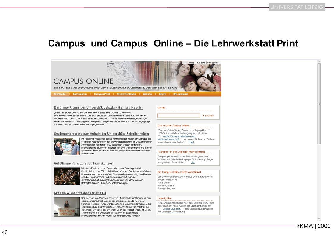 Campus und Campus Online – Die Lehrwerkstatt Print