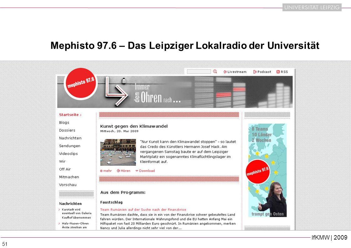 Mephisto 97.6 – Das Leipziger Lokalradio der Universität