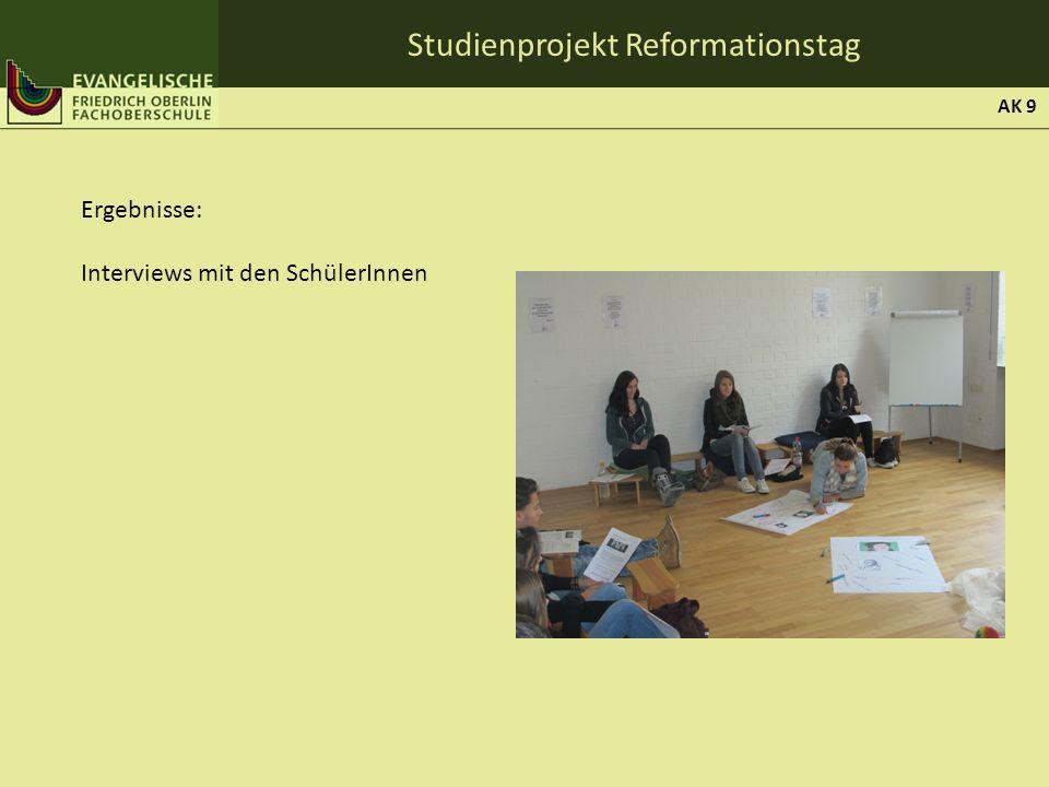 Studienprojekt Reformationstag