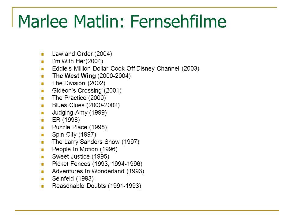 Marlee Matlin: Fernsehfilme