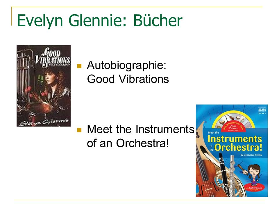 Evelyn Glennie: Bücher