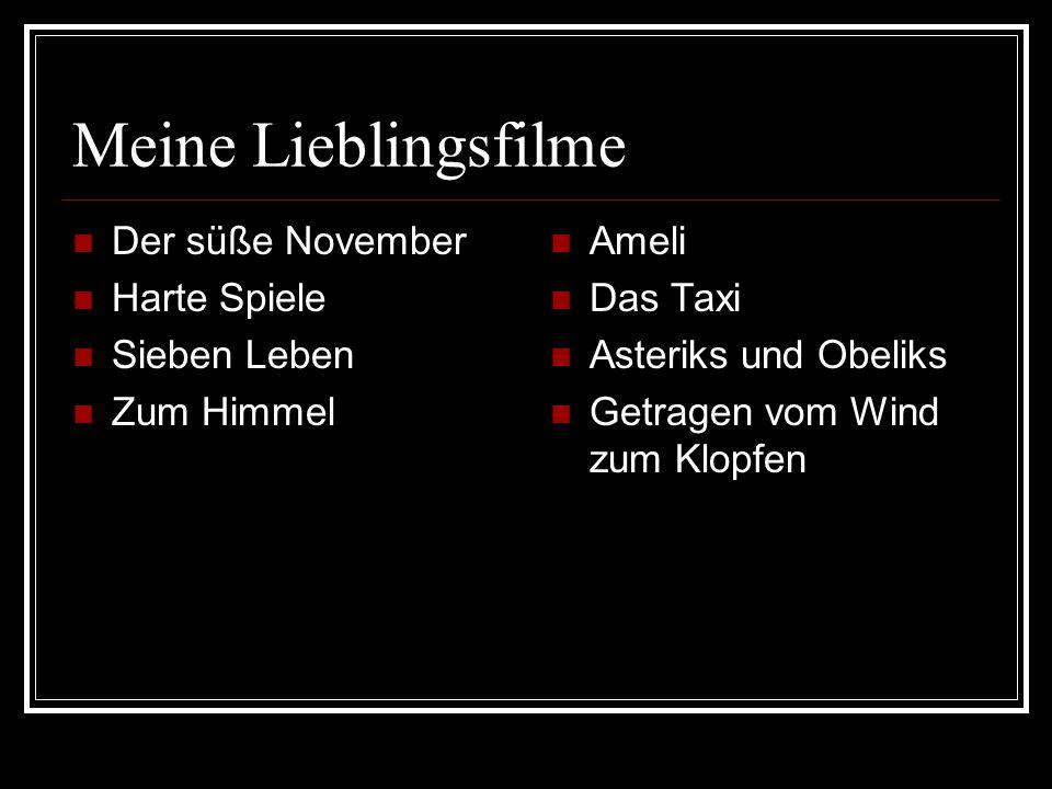 Meine Lieblingsfilme Der süße November Harte Spiele Sieben Leben