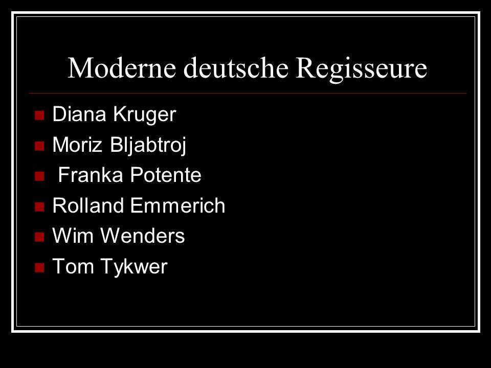 Moderne deutsche Regisseure