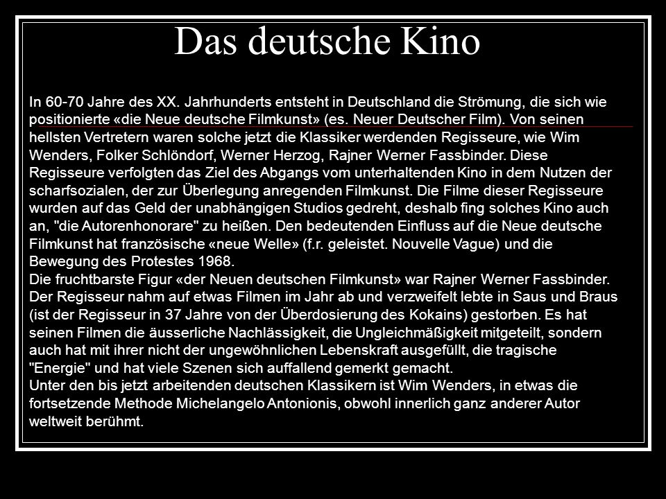 Das deutsche Kino