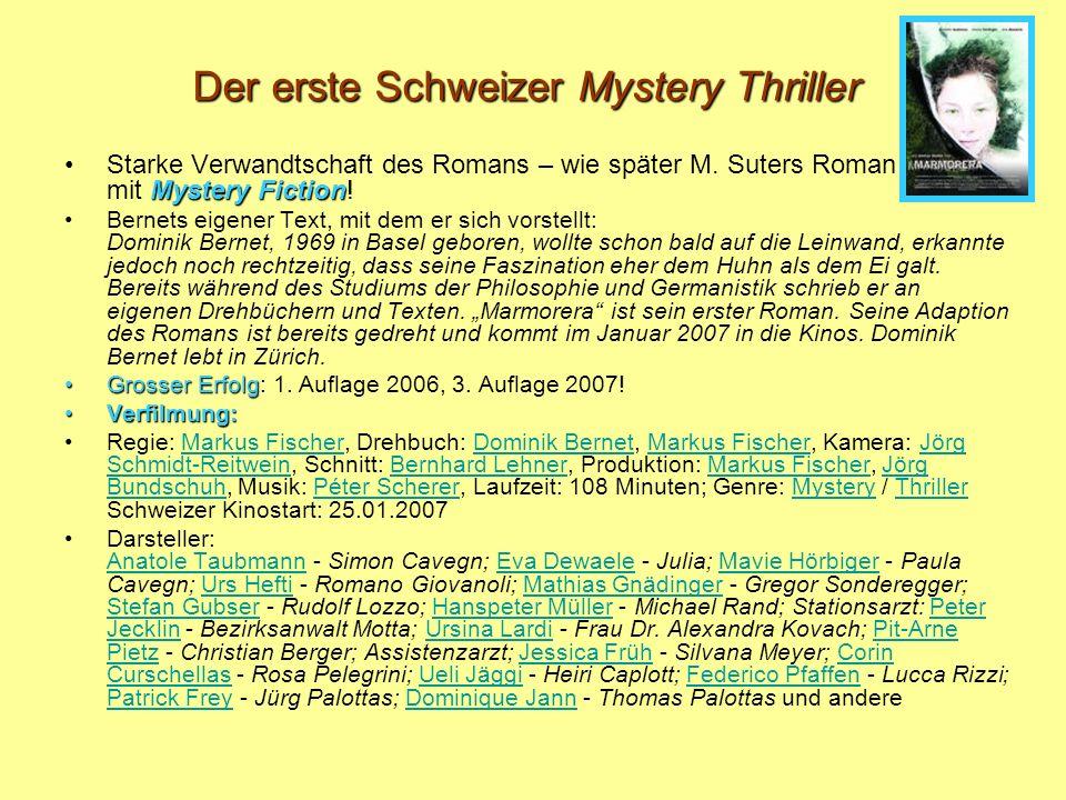 Der erste Schweizer Mystery Thriller