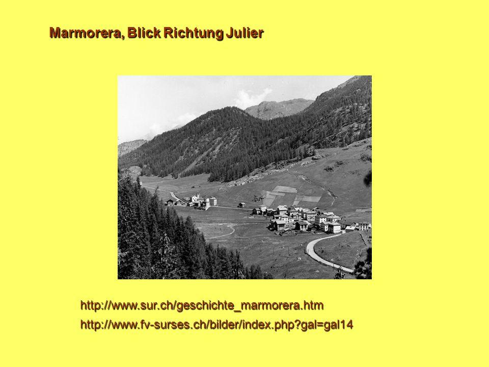 Marmorera, Blick Richtung Julier