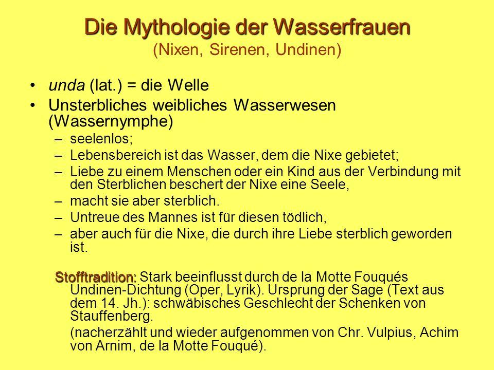 Die Mythologie der Wasserfrauen (Nixen, Sirenen, Undinen)