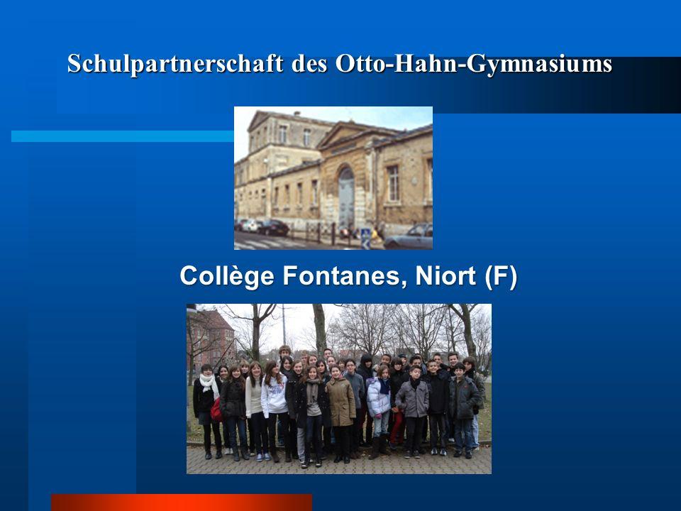 Schulpartnerschaft des Otto-Hahn-Gymnasiums