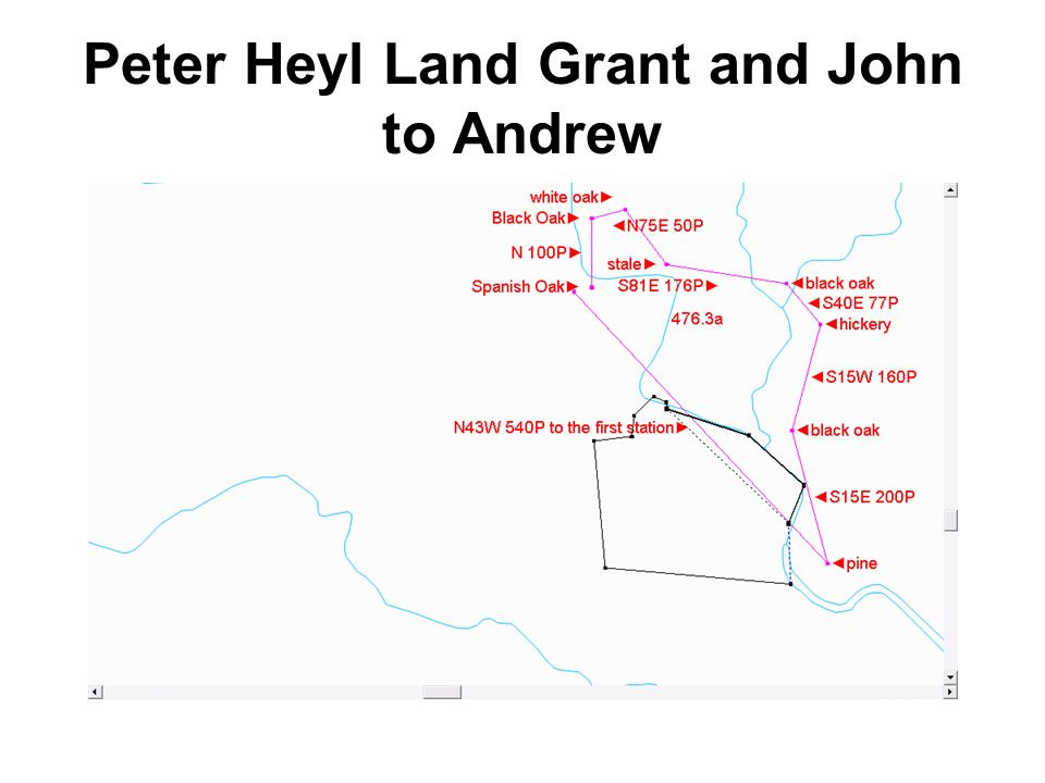 Peter Heyl Land Grant and John to Andrew