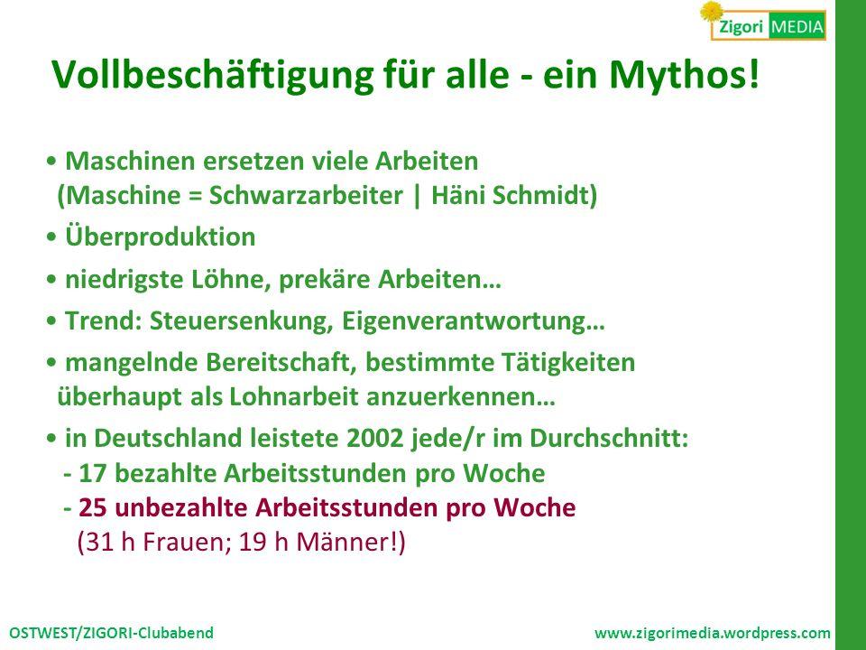 Vollbeschäftigung für alle - ein Mythos!