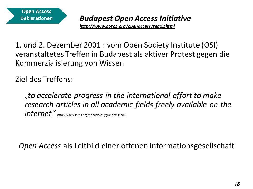 Open Access als Leitbild einer offenen Informationsgesellschaft