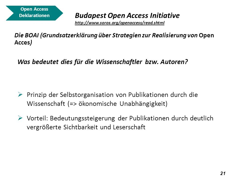 Open Access Deklarationen. Budapest Open Access Initiative http://www.soros.org/openaccess/read.shtml.