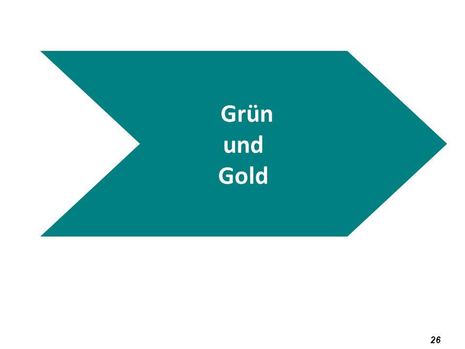 Grün und Gold