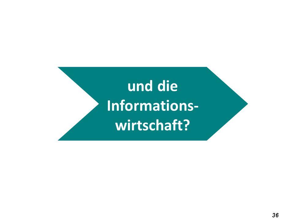 und die Informations-wirtschaft