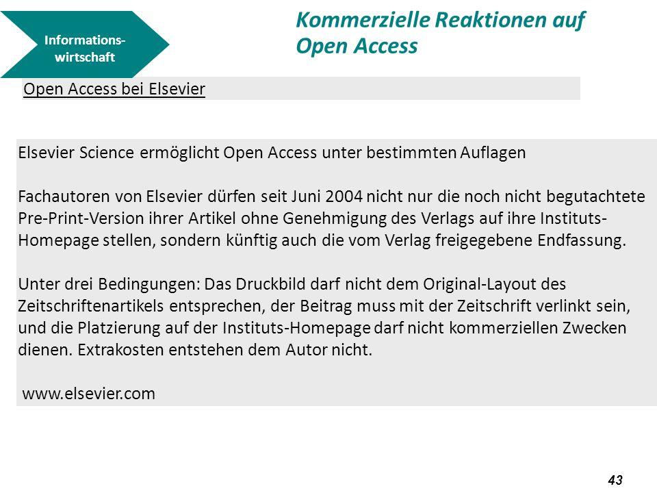 Kommerzielle Reaktionen auf Open Access