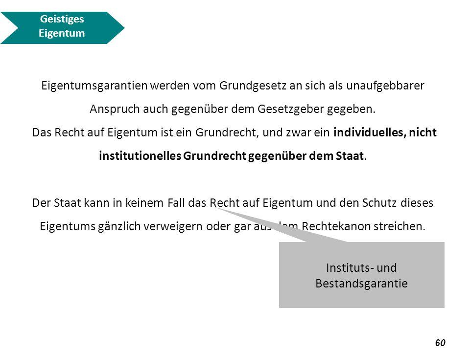 Instituts- und Bestandsgarantie