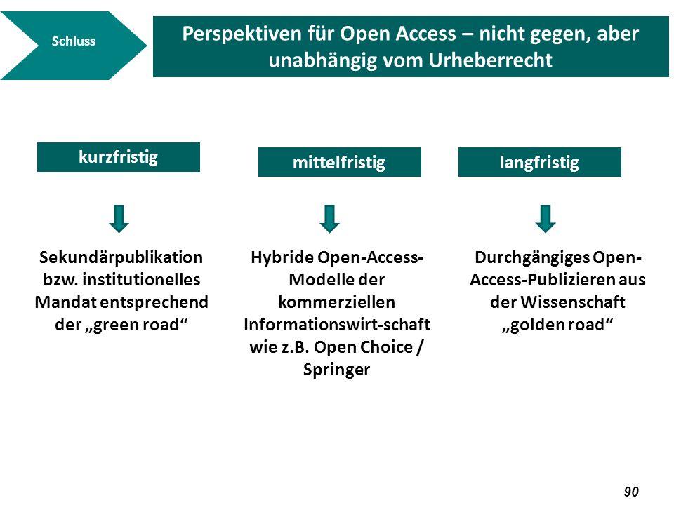 Durchgängiges Open-Access-Publizieren aus der Wissenschaft