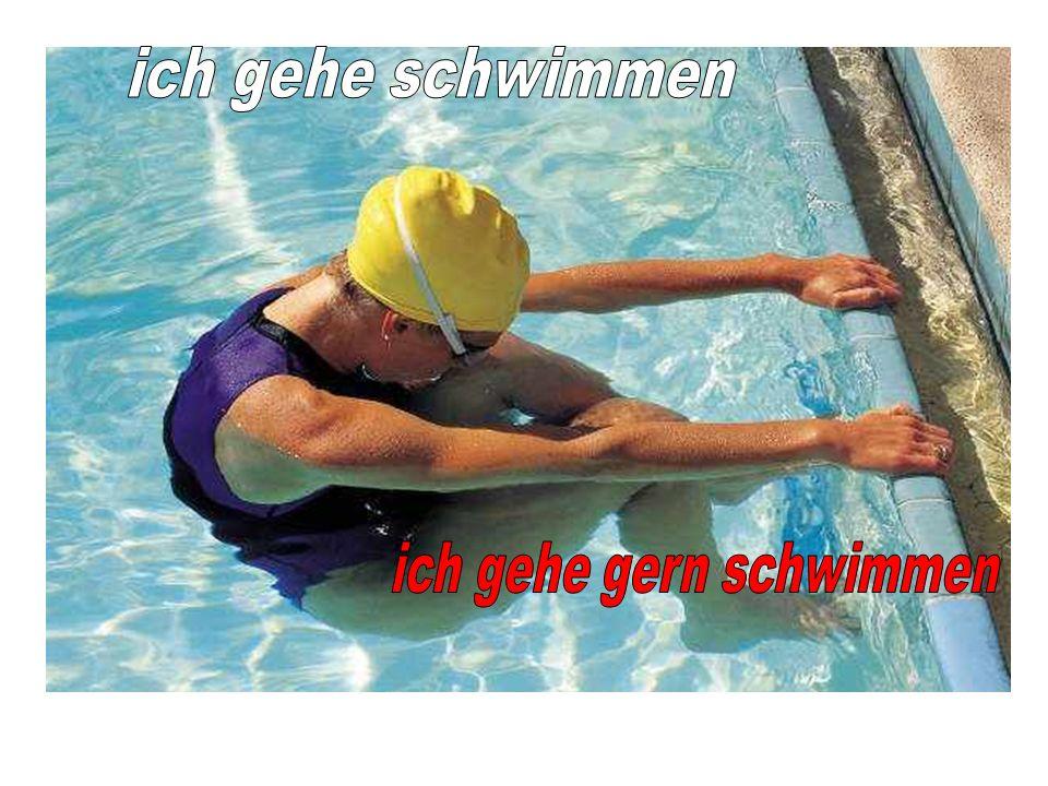 ich gehe gern schwimmen