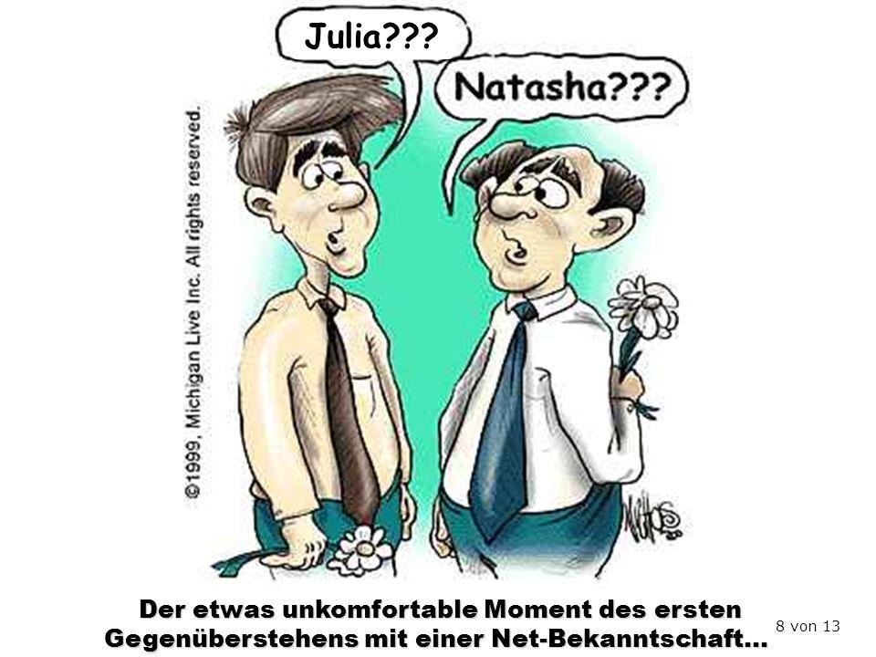 Julia Der etwas unkomfortable Moment des ersten