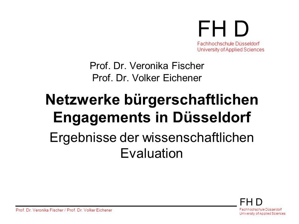 Prof. Dr. Veronika Fischer Prof. Dr. Volker Eichener
