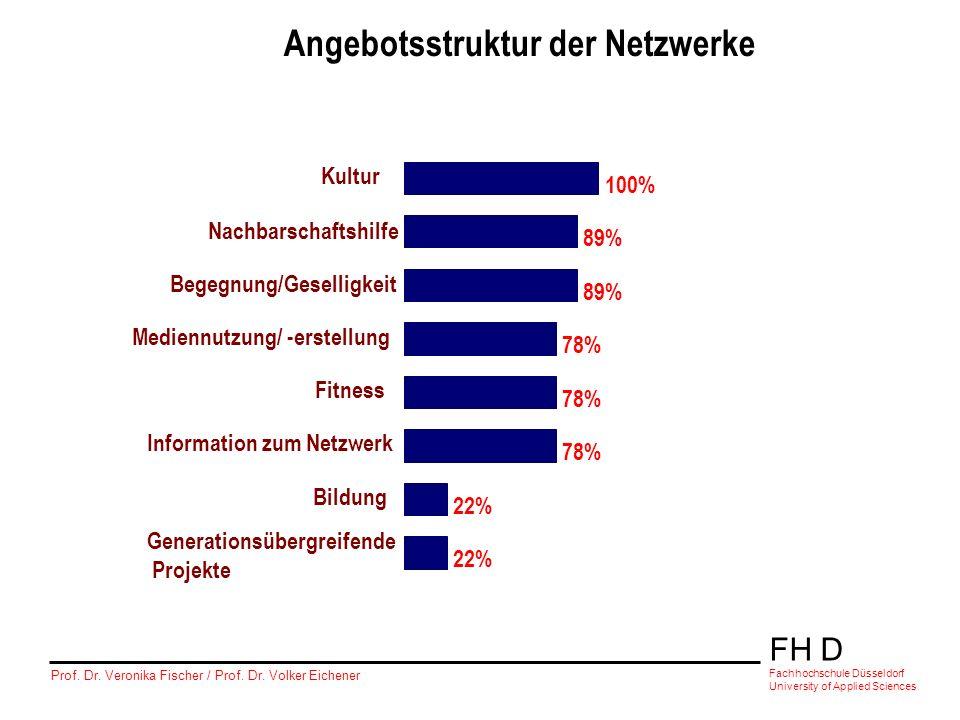 Angebotsstruktur der Netzwerke