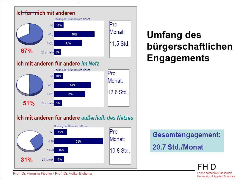 Umfang des bürgerschaftlichen Engagements