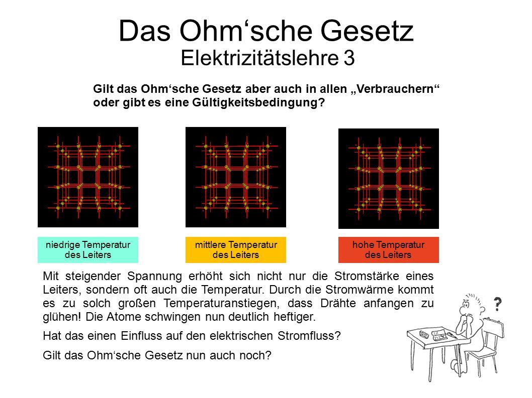 Das Ohm'sche Gesetz Elektrizitätslehre 3