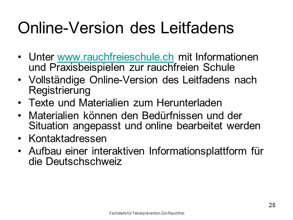 Online-Version des Leitfadens