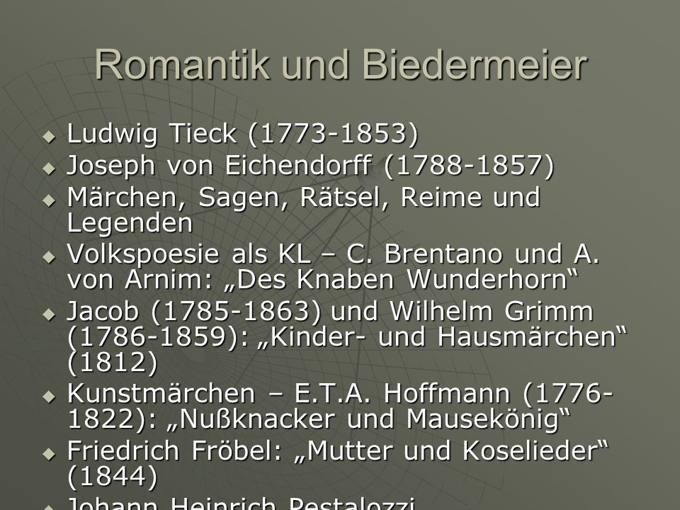 Romantik und Biedermeier