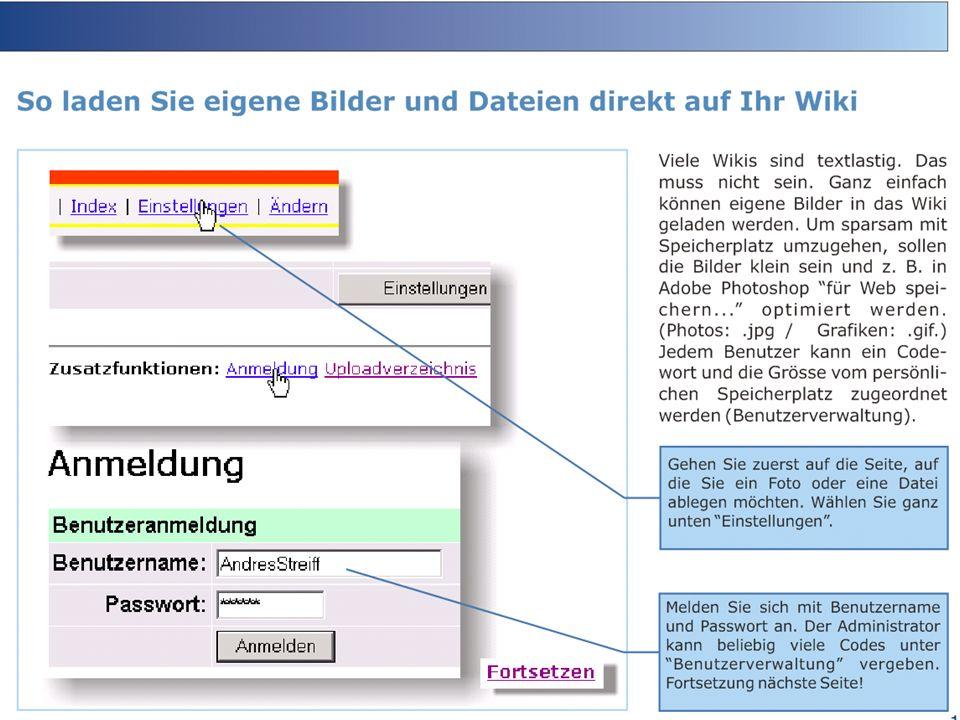 Viele Wikis sind textlastig. Das muss nicht sein