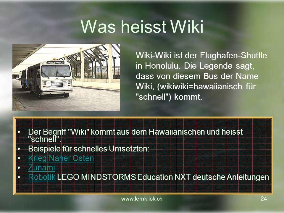 Was heisst Wiki