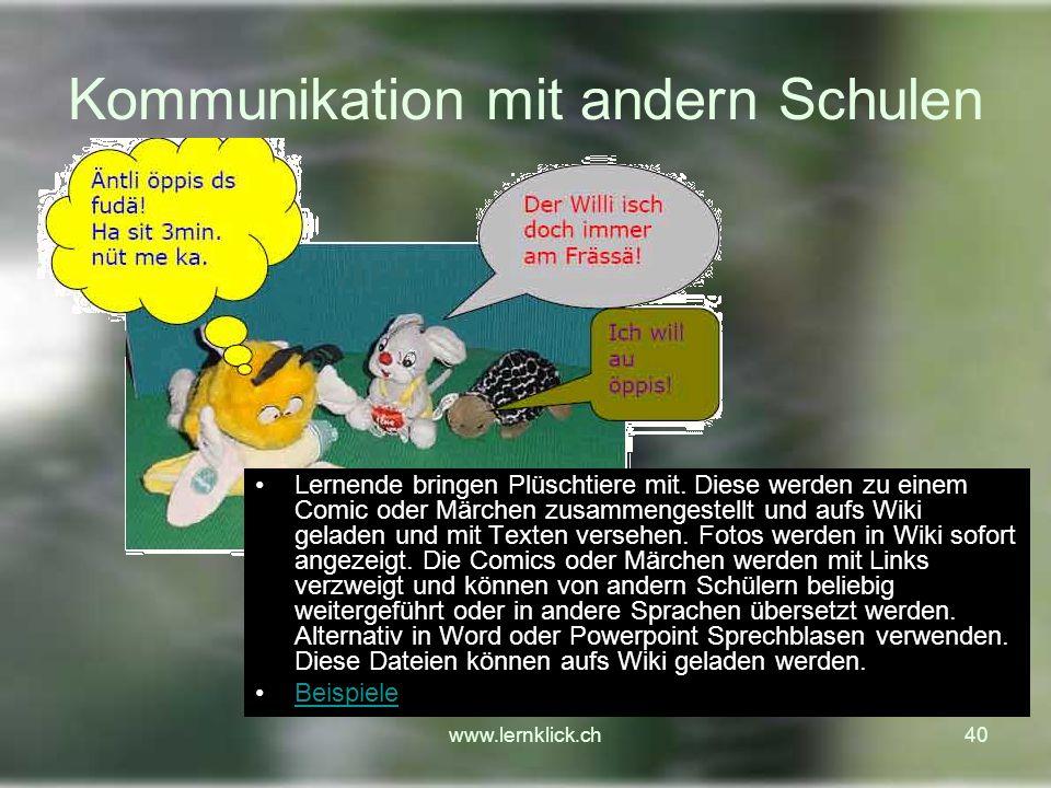 Kommunikation mit andern Schulen