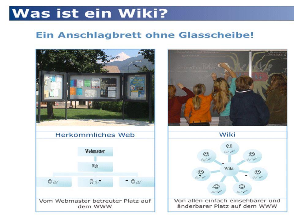 Wiki ist eine virtuelle Wandtafel