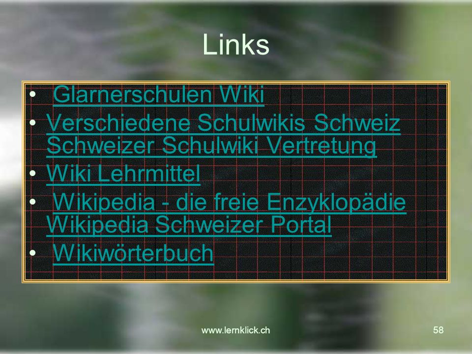 Links Glarnerschulen Wiki