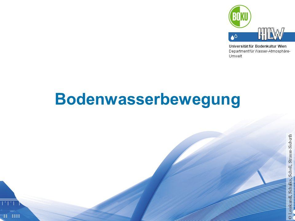 Bodenwasserbewegung © Loiskandl, Schalko, Scholl, Strauss-Sieberth