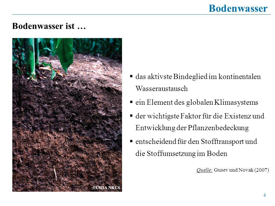 Bodenwasser Bodenwasser ist …